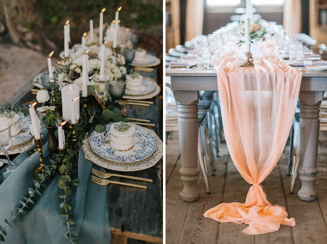 24 genius ideas for your wedding table runner planners hub source the wedding lady junglespirit Choice Image