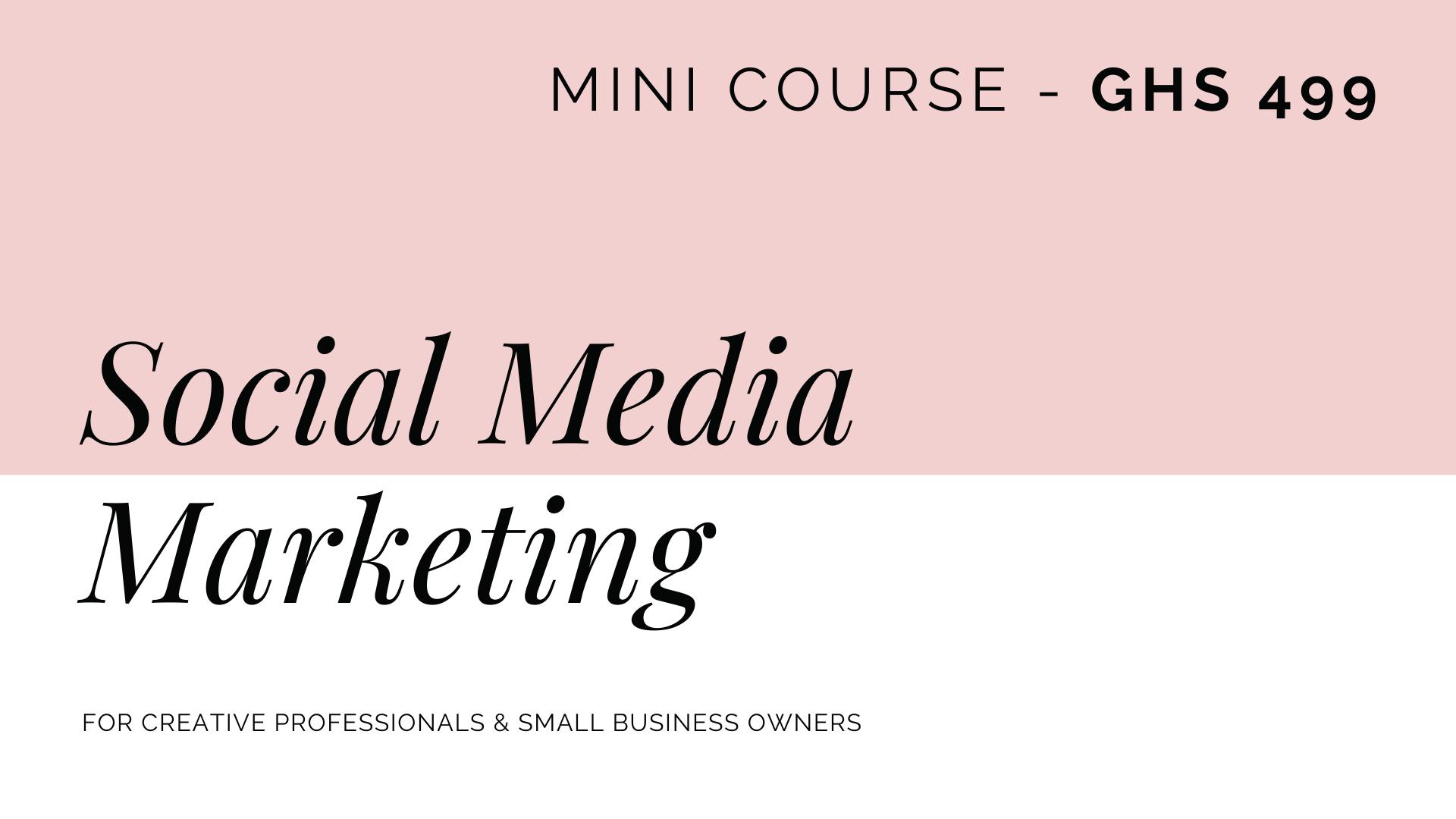 Copy of Social Media Marketing Course