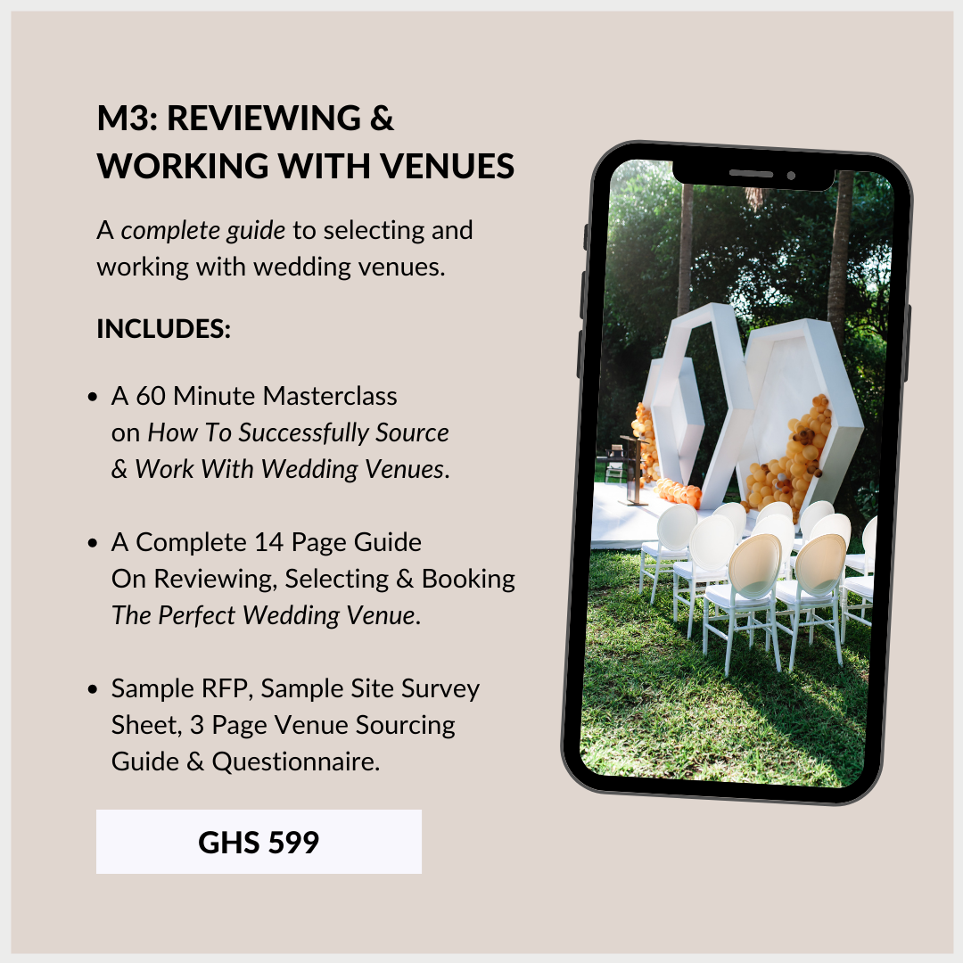 Wedding Planning Course In Ghana 3